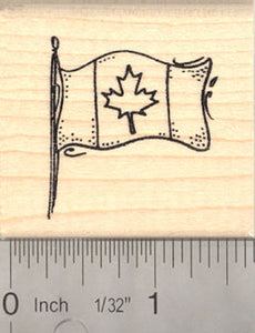 Canadian Flag Rubber Stamp