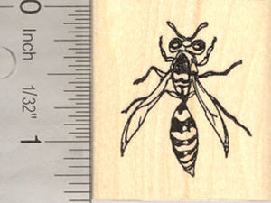 Wasp Rubber Stamp (Insect, Bug)