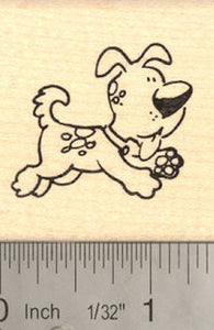 Cute Puppy Rubber Stamp (Dog)