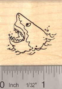 Small Shark Rubber Stamp