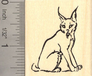Caracal Wildcat Rubber Stamp Lynx, Wildlife