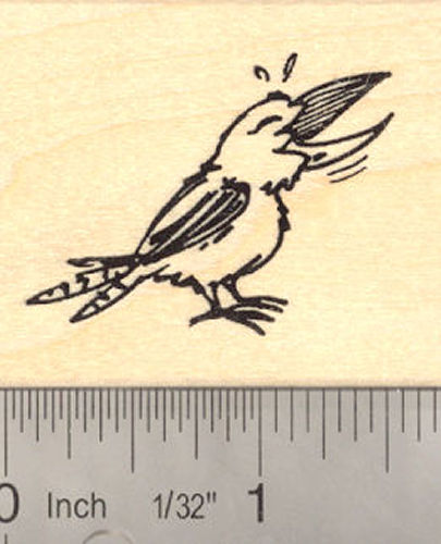 Laughing Kookaburra Bird Kingfisher Rubber Stamp Australian