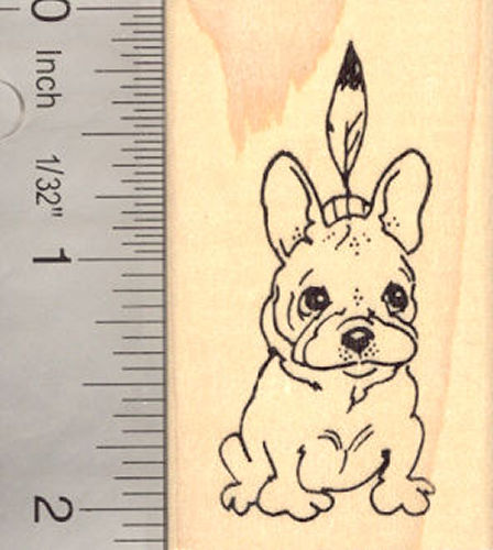 French Bulldog Thanksgiving Rubber Stamp Dog