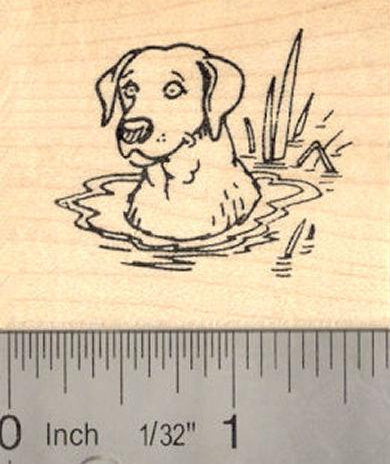 Labrador Retriever Dog Rubber Stamp