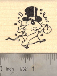 New Year Rat with Hat and Pocket Watch