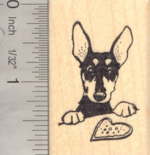 Valentine Rat Terrier with Sugar Cookie Rubber Stamp
