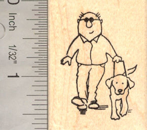 Guide Dog for the Blind or Hearing Impaired Rubber Stamp