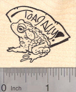 Toadally Toad Rubber Stamp