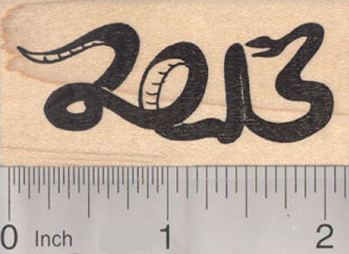 Year of the Snake 2013 Rubber Stamp, Chinese New Year