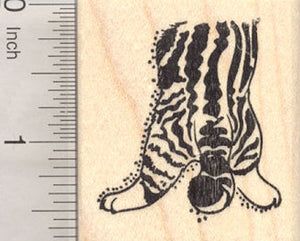 Half a Cat Rubber Stamp - stamp this half cat so that it looks like it is head first in a bag, box, or stocking
