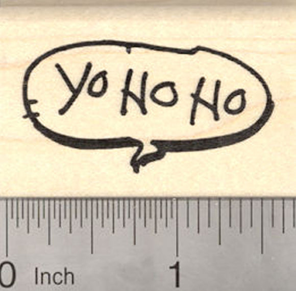 Yo Ho Ho, Pirate Saying Rubber Stamp, Speech Balloon