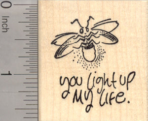 Valentine's Day Rubber Stamp, Lightning Bug, Firefly