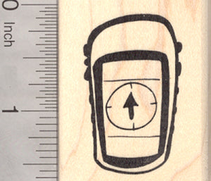 Global Positioning System Rubber Stamp, Geocaching Handheld GPS