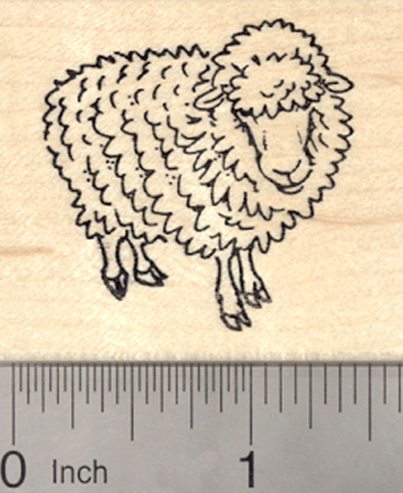 Sheep Rubber Stamp, Easter, Spring, Ewe, Lamb