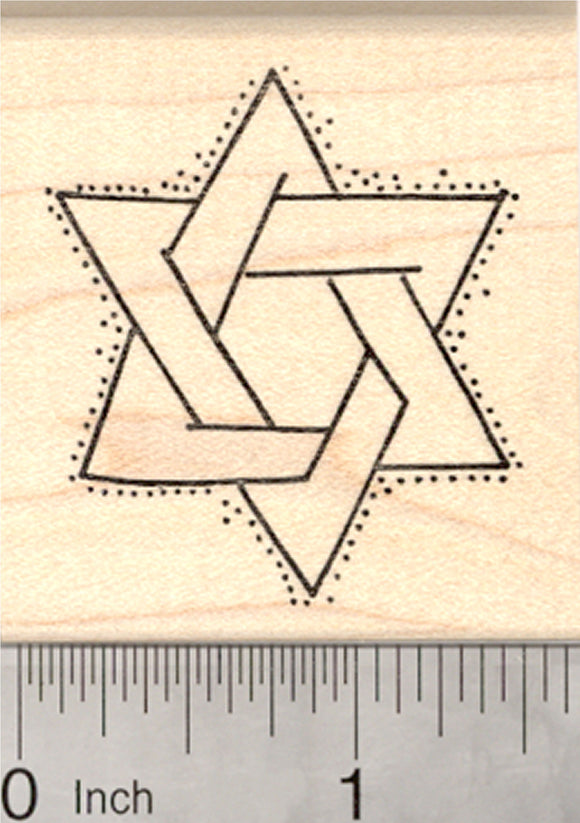 Star of David Rubber Stamp, Hanukkah, Chanukah, Jewish Holiday
