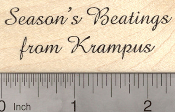 Christmas Krampus Rubber Stamp, Saying, Season's Beatings