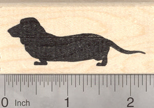 Dachshund Dog Rubber Stamp, Silhouette