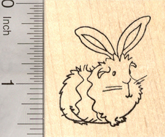 Easter Guinea Pig Rubber Stamp, With Bunny Ears