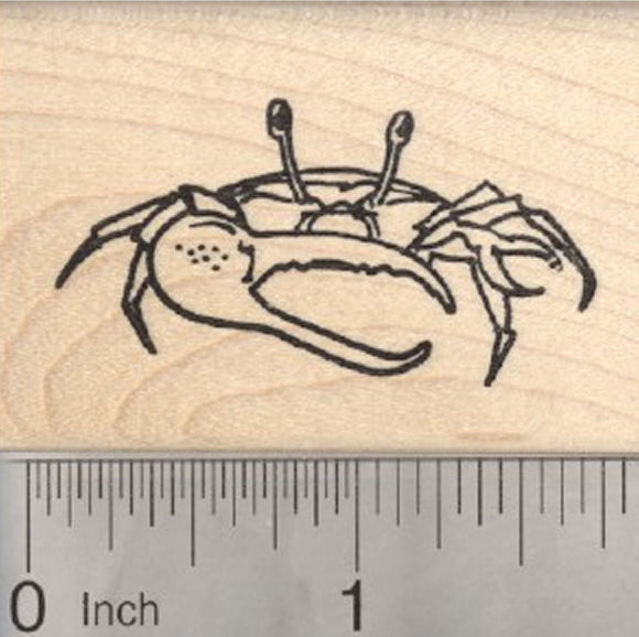 Crab Rubber Stamp, Seafood, Crustacean