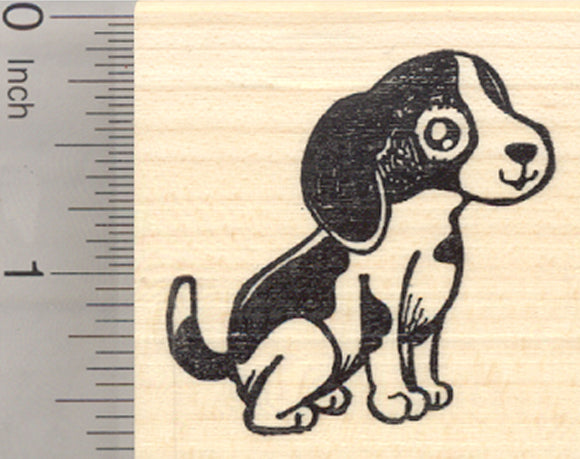 Beagle Dog Rubber Stamp