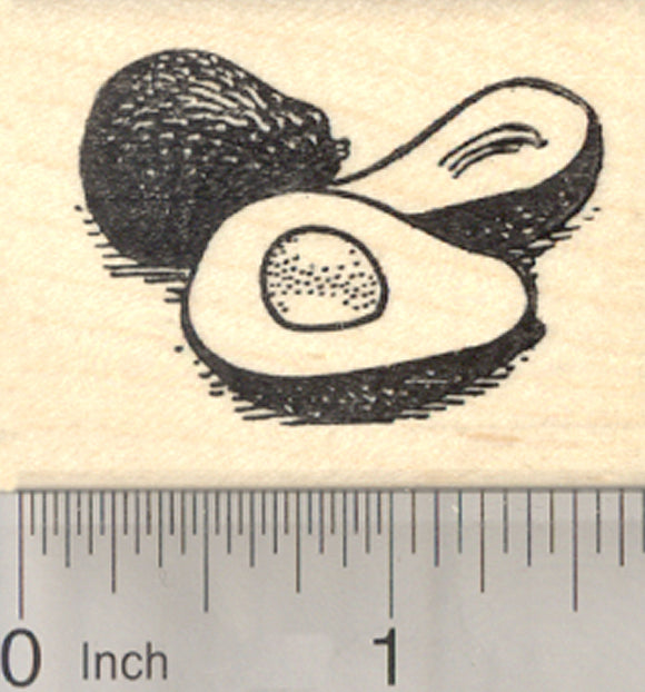Avocado Rubber Stamp