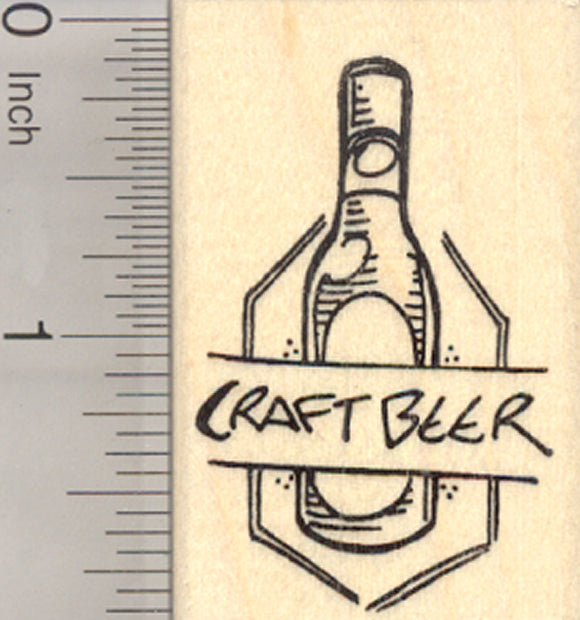Craft Beer Rubber Stamp