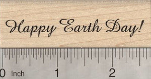 Happy Earth Day Rubber Stamp