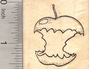 Apple Core Rubber Stamp, Fruit