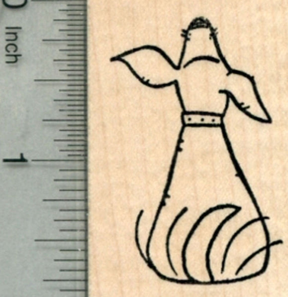 Dog Wagging Tail Rubber Stamp
