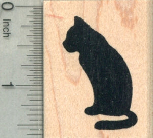 Cat Silhouette Rubber Stamp