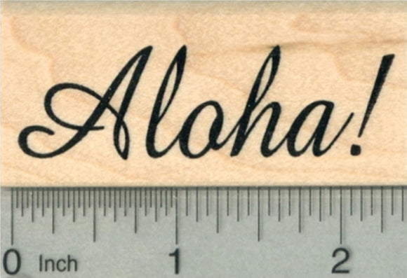 Aloha Rubber Stamp, Luau Party Series