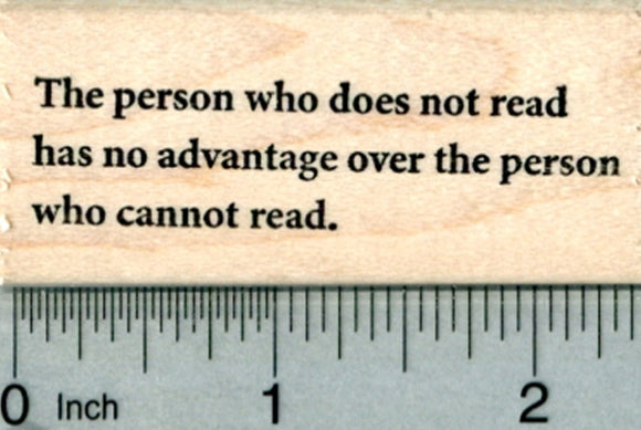 Reading Rubber Stamp, The person who does not read
