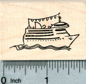 Cruise Ship Rubber Stamp, World Travel Series