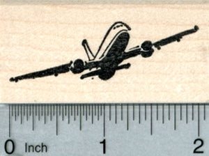 Airplane Rubber Stamp, Jet, Airliner, Air Travel Series