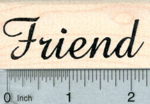 Friend Rubber Stamp