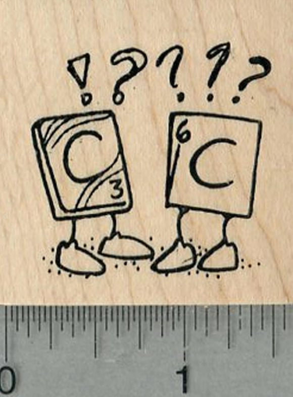 Chemistry Humor Rubber Stamp, Periodic Table