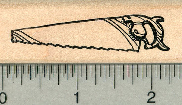 Hand Saw Rubber Stamp, Carpentry Series