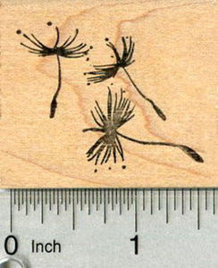 Dandelion Seeds Rubber Stamp, Floating on Fluff