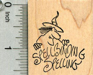 Halloween Witch Rubber Stamp, Spellbinding Spelling, Teacher Series