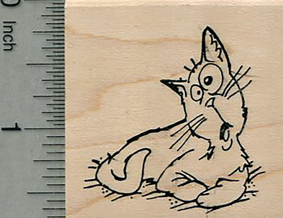 Comic Cat Rubber Stamp