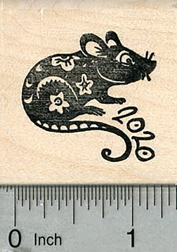 2020 Rat Rubber Stamp, Chinese New Year