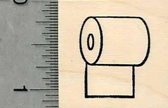 Toilet Paper Rubber Stamp