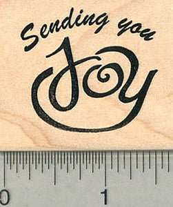 Sending Joy Rubber Stamp, Friendship Series
