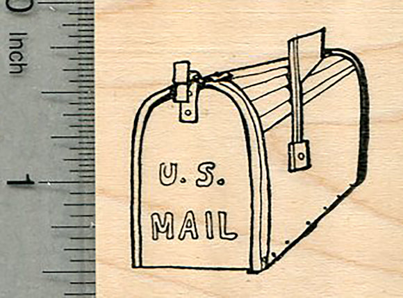 Mailbox Rubber Stamp, USPS Mail Series