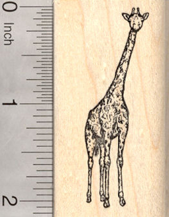 Giraffe Rubber Stamp, Small