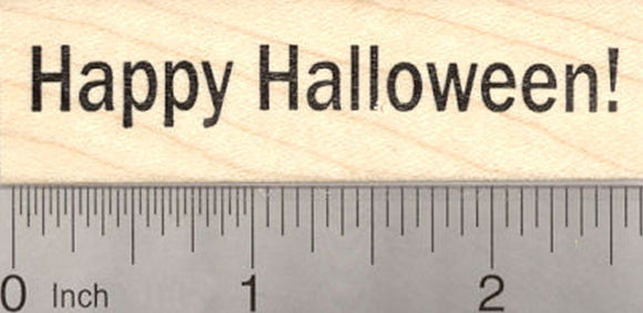 Happy Halloween Rubber Stamp