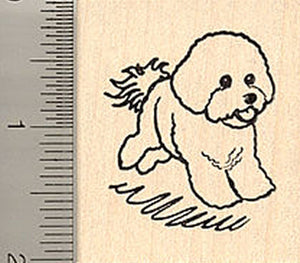 Bichon Frise Dog Rubber Stamp