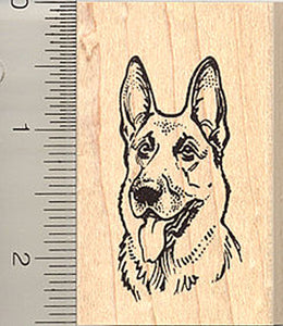 German Shepherd Portrait Rubber Stamp