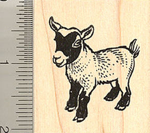 African Pygmy Goat Rubber Stamp