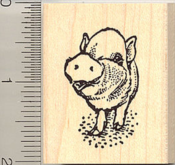Cute Pig Rubber Stamp E9014